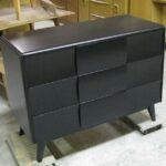 141 Kohinoor single dresser redone in black