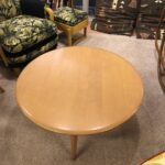 """36"""" round cocktail table redone Champagne  $450 1508"""
