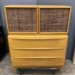 redone Wheat 1509 Cane door chest