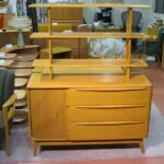 """48"""" custom divider top  in Wheat on  Tambour buffet"""