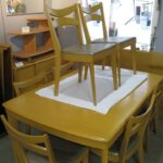 M165 large extension table redone Wheat table and chairs set