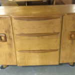 48 wide x 18 x 32 high  $1400 refinished.  $550 as is 192 buffet
