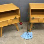 Pair of Kohinoor nightstands redone Wheat 148s