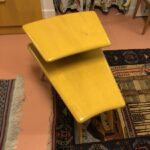 Wedge-end table redone Wheat $475  sold M396