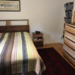 Full bed, nightstand and chest copied from Wakefield pieces using Walnut and Sycamore. Custom suite