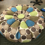 Top only, have no base. Newly reupholstered. $375 for the top. pouffe top