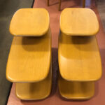 refinished in Wheat $550 each 30x16x22  sold Pair of Surboard end tables