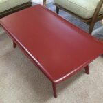 """redone in Red lacquer $450 40 x 20"""""""