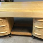 320 kneehole desk redone Natural