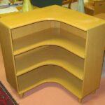 M322 Corner bookcase  redone Wheat