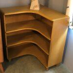 refinished  in Wheat. M322 corner bookcase