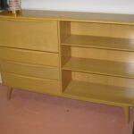 M328 Desk/bookcase redone Wheat