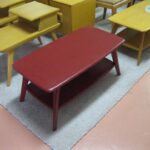 painted red with lacquer top coat M335 cocktail table