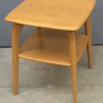 $550 337 Lamp table redone red Wheat