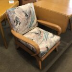Aristocraft M367 arm chair redone in Champagne and reupholstered.