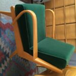 Redone Wheat and reupholstered with dark green Velvet Mohair Aristocraft 367 pic 2