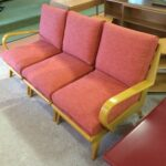 Refinished Wheat and reupholstered 367
