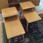 redone Champagne pair m374 end tables