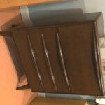 M389 Desk/chest previously refinished darker but well done. Condition is excellent outside. The inside has evidence of use.