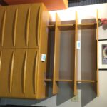 M524 double dresser with custom shelving (divider) top redone Wheat