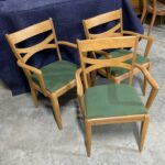 condition is excellent original Champagne.  Fabric is very good, no rips, etc. $300 each 3 553 Arm chairs