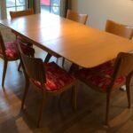 Chairs and table refinished in Orange Champagne sold 555s
