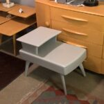 $525 M794 end table with drawer in gray lacquer