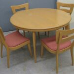 M950 round table and 4 side dogs redone Wheat