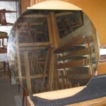 "$350: Airflow round mirror 36"" diameter as is"