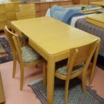older table and chairs redone Wheat