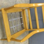 metal straps were rusty so they were cleaned and painted Aristocraft M927 chair redone Wheat