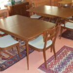 dining suite in factory Walnut   excellent condition