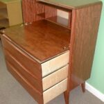 Desk/chest made out of Bubinga with the drawer boxes made using Curly Maple