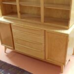 Triple crown china on credenza redone Natural