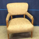 C3765 Arm chair. Needs to be reupholsterd and refinished