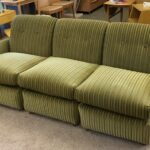 Total length is approx. 80 inches. Depth is 36. Height is 32. C3985 three piece sectional