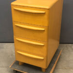 fuax four drawer file cabinet