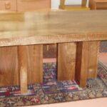 Double pedestal Walnut table