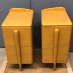 These were cut from a Skyliner vanity and modified for use as nightstands