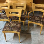 Original Wheat. Very good/excellent condition. Fabric is excellent. $1300  sold Pair of sides and arms chairs