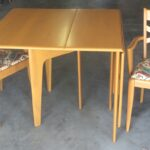 redone Wheat !66 gateleg drop leaf and pair of M553 arm chairs