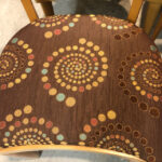 Fabric is newer and in excellent condition. chair fabric