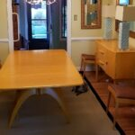Triple Ped table, 4 Stingrays and custom 3709 buffet in Wheat