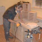 Sanding drawer shelves