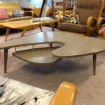 """very good condition  42"""" x 42 .  Approx. 15"""" high.  $275 (not Wakefield) Formica table"""