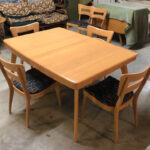 Large extension table redone Champagne $1600  sold M789
