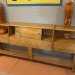 previously refinished in Natural very good/excellent condition $950 king utility head board