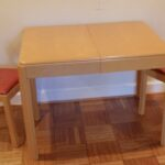 table and chairs redone Wheat