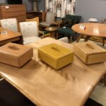 Made with Birch in Champagne, Wheat  and Natural. All have been sold. Jewelry boxes