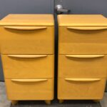 refinished in Wheat. $1700 for the pair. $900 for one. M528 Pier Cabinets